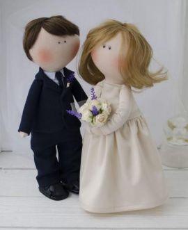 Свадебная пара Жених и Невеста - подарок ручной работы на свадьбу Беларусь.