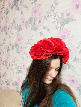 Ободок с крупными розами Ободок на хэллоуин Фрида в Stranamasterov.by Беларусь.