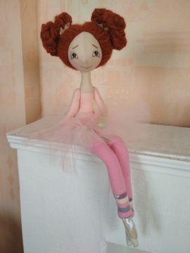Текстильная кукла Балерина в розовой пачке в Stranamasterov.by Беларусь.