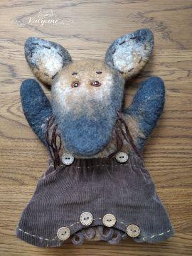 Кукла-перчатка для театра Лисёнок Фадей в Stranamasterov.by Беларусь.