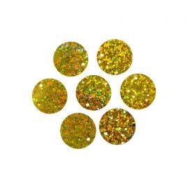 Пайетки плоские, 20мм, упаковка, А20 золото голограмма, 10гр, АСТРА Россия.