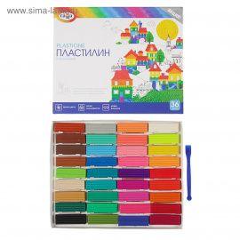 """Пластилин 36 цветов, """"Классический"""", со стеком, 720гр, 281037, ГАММА Россия."""