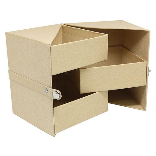Заготовка из папье-маше Многоуровневая коробочка 10*10*12см, SCB271052