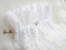 Подвязка невесты Ажур - подарок ручной работы на свадьбу Беларусь.