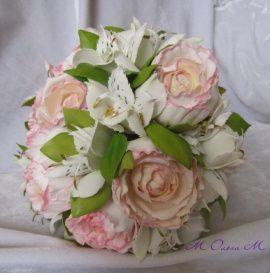 Букет для невесты Нежность - подарок ручной работы на свадьбу Беларусь.