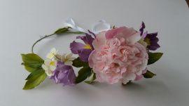 Свадебный венок Джульета - подарок ручной работы на свадьбу Беларусь.