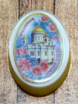Сувенирное мыло Яйцо с картинкой маленько в Stranamasterov.by Беларусь.