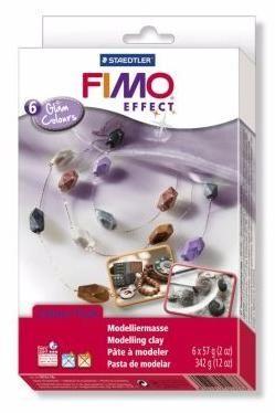 Набор полимерной глины EFFECT Гламурные цвета 8023-06 6 цветов по 57гр, FIMO Россия.