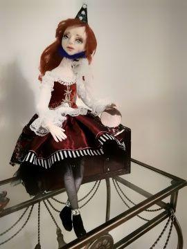 Авторская кукла Клоунесса Мэри в Stranamasterov.by Беларусь.