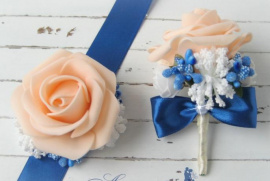 Бутоньерка для свидетелей Роза - подарок ручной работы на свадьбу Беларусь.