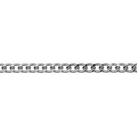 Цепь алюминиевая, 6.6*5.2мм 10 м никель, К1705 Россия.