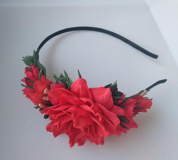 Ободок Красная роза в Stranamasterov.by