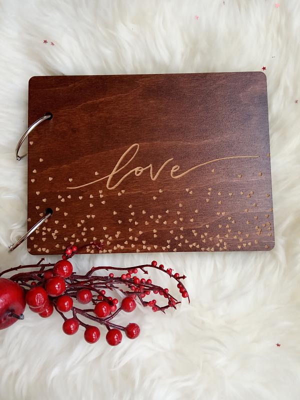 Деревянный фотоальбом Love (мини) в Stranamasterov.by