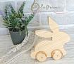 Заяц деревянный На колёсиках в Stranamasterov.by