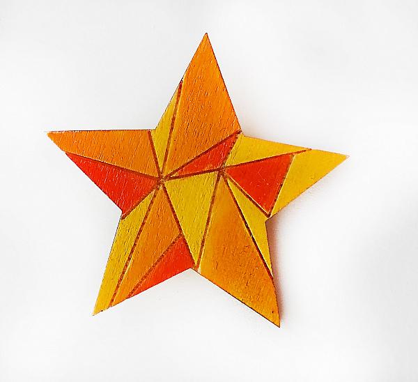 Брошь Геометрическая звезда в Stranamasterov.by