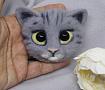 Брошь Кошка серая в Stranamasterov.by