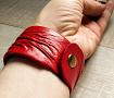 Браслет кожаный Красный в Stranamasterov.by