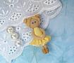 Брошь Балерина в желтом в Stranamasterov.by