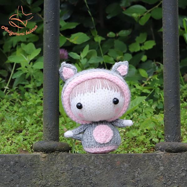 Вязаная игрушка Кошечка из серии Tanoshi в Stranamasterov.by