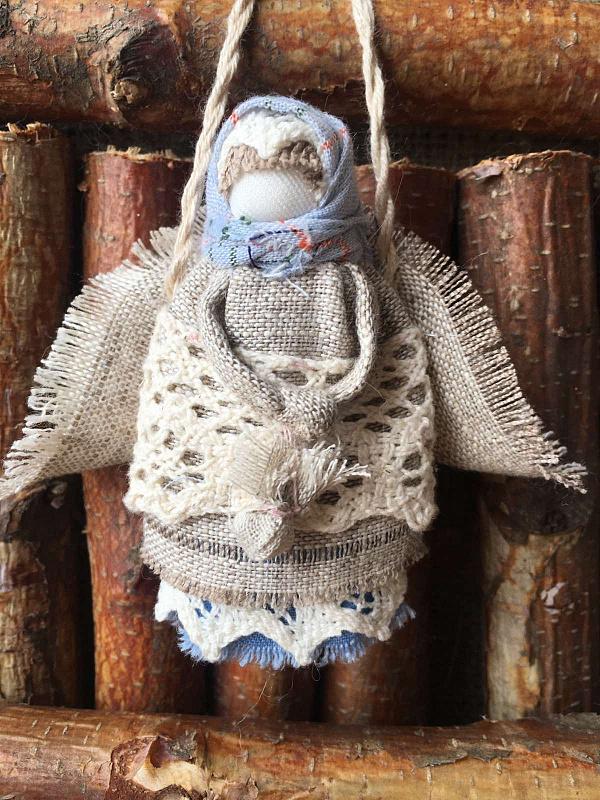 Народная кукла мотанка Подвеска Ангелок в Stranamasterov.by