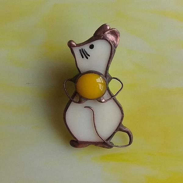 Брошь Мышка с сыром в Stranamasterov.by