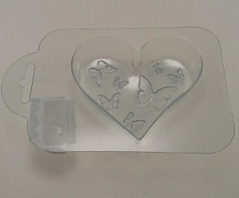 Пластиковая форма Сердце с бабочками Россия.