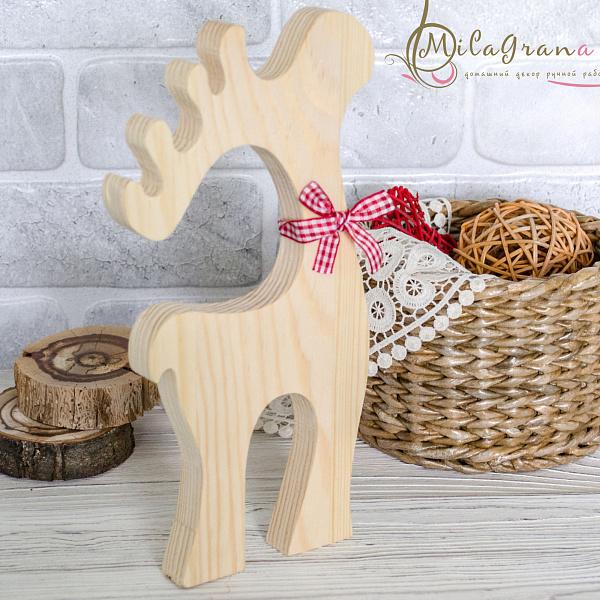 Лось деревянный 24х13х1.8 см в Stranamasterov.by