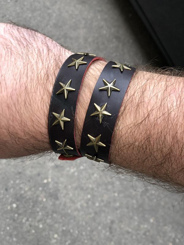 Браслет кожаный Mega Star в Stranamasterov.by