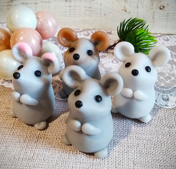 Мини мышка Сувенирное мыло в Stranamasterov.by