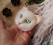 Брошь Кошка белая в Stranamasterov.by