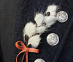 Брошь, цветы из кожи Верба в Stranamasterov.by