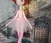 Текстильная кукла Балерина в розовой пачке в Stranamasterov.by