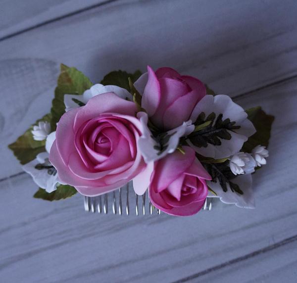 Гребешок для волос Розовые розы в Stranamasterov.by