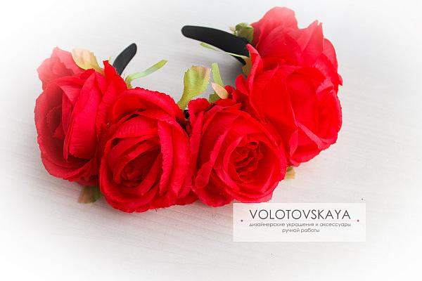 Ободок Крупные розы в Stranamasterov.by