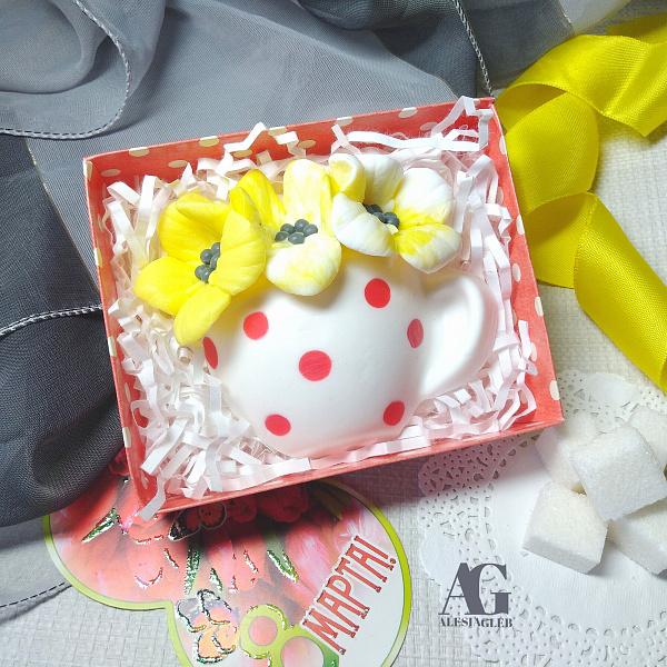 Сувенирное мыло Цветы в чашке в Stranamasterov.by
