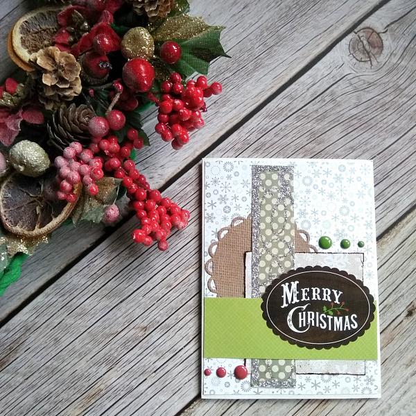 Открытка Merry Christmas в Stranamasterov.by