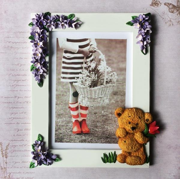 Рамка для фотографий Мишутка в цветах в Stranamasterov.by