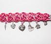 Браслет с подвесками Pink love в Stranamasterov.by