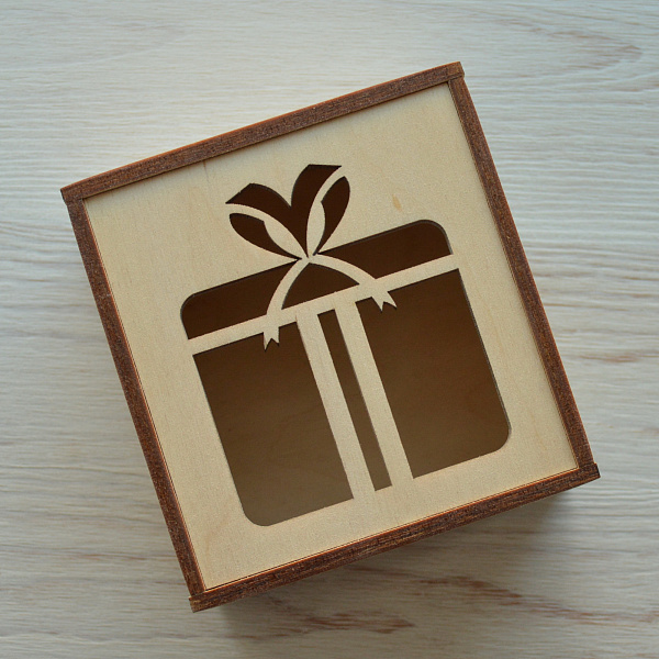 Подарочная коробка Фанерная 10*9*6 см в Stranamasterov.by