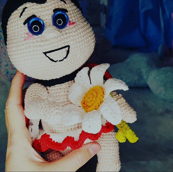 Вязаная игрушка Божья коровка в Stranamasterov.by