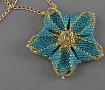 Кулон Голубой цветок в Stranamasterov.by