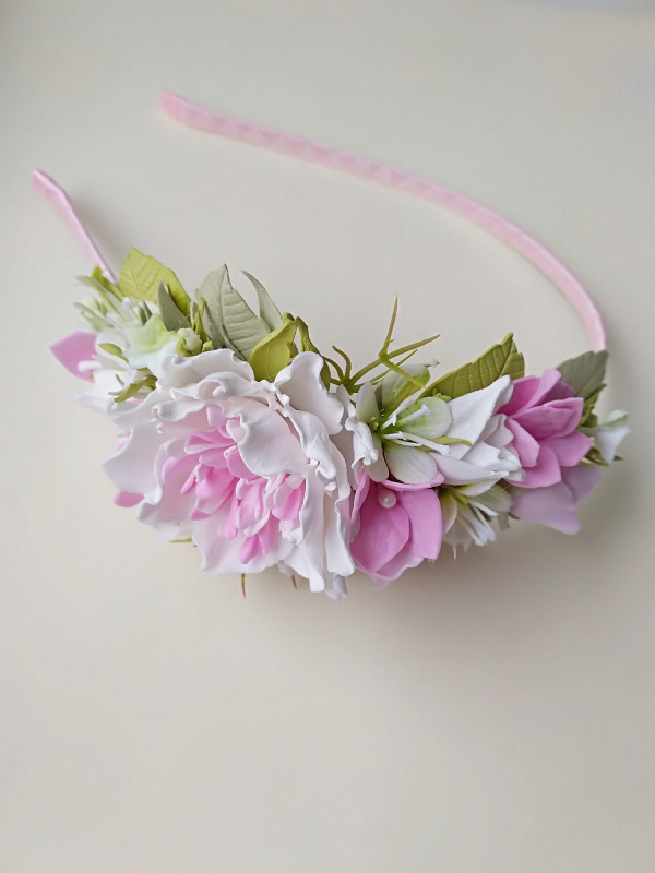 Ободок Бело-розовый в Stranamasterov.by