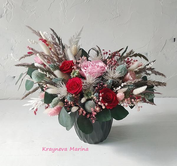 Композиция из сухоцветов Марго в Stranamasterov.by