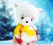 Интерьерная игрушка Белый мишка в Stranamasterov.by