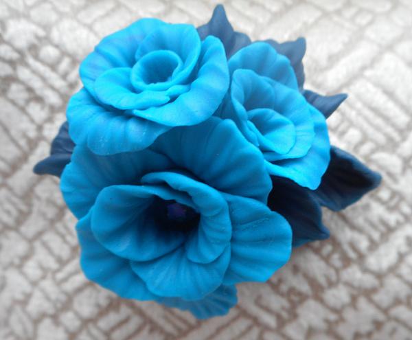Брошь Лазурные цветы в Stranamasterov.by