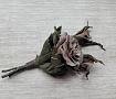 Брошь, цветы из кожи Букет роз в Stranamasterov.by