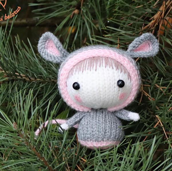 Вязаная игрушка Мышка из серии Tanoshi в Stranamasterov.by