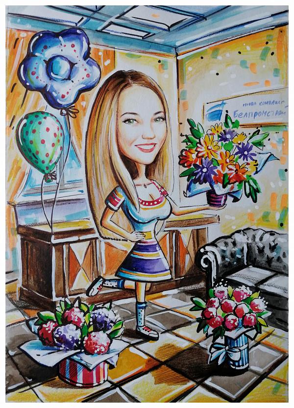 Шарж Шарж на день рождения в Stranamasterov.by