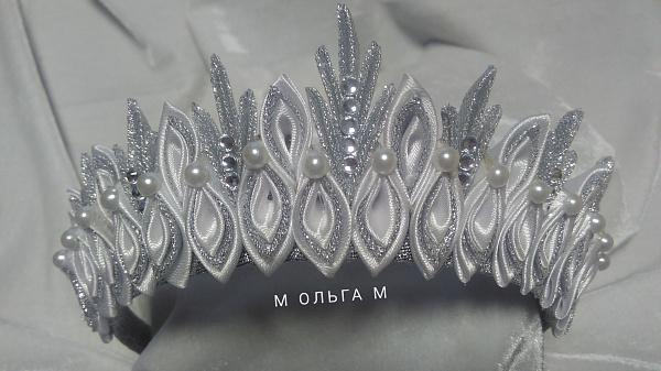 Тиара новогодняя Серебристо-белая в Stranamasterov.by