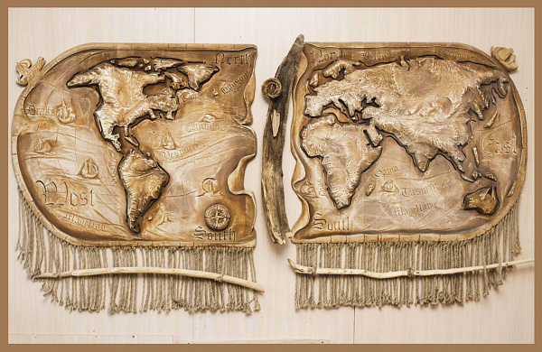 Панно Карта мира в Stranamasterov.by